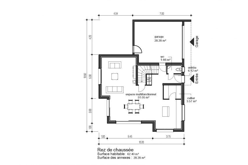 Haus 5z mit Garage und Terrasse colmar