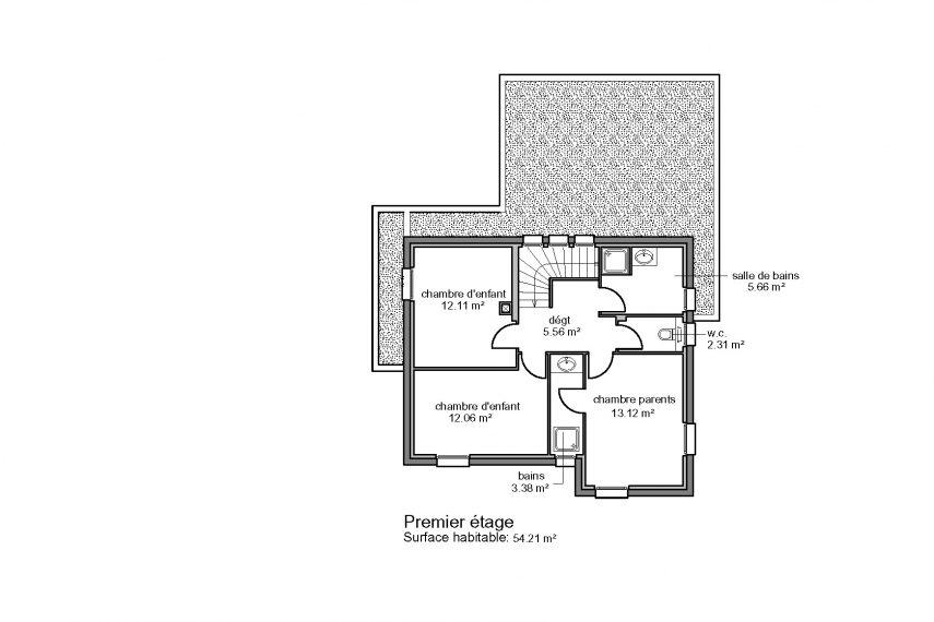 Haus 5z mit Garage und Terrasse haut rhin