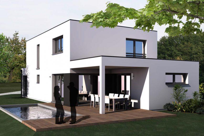Haus 6z mit Garage und Pool bas rhin
