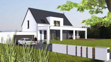 Haus 6z mit Garage, Pool und Mezzanine alsace
