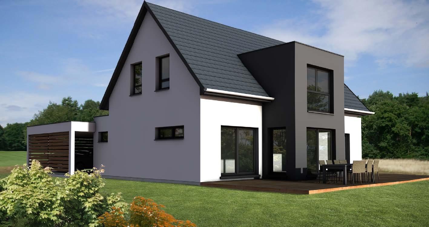 maison 2 pans avec pignon toit plat  u00e0 wettolsheim